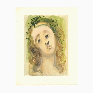 Salvador Dalí, Our Lady of the Annunciation, Original Woodcut, 1963