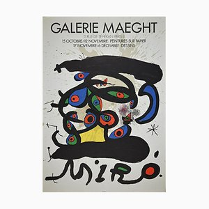 Affiche d'Exposition Mirò Vintage de Galerie Maeght, Offset and Lithograph, 1970s
