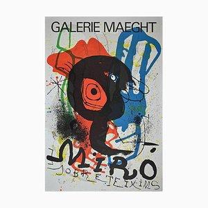 Sobreteixims, Vintage Poster After Joan Miró Lithograph, 1973