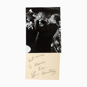 Louis Armstrong, Vintage Fotografie mit Widmung, 1950er