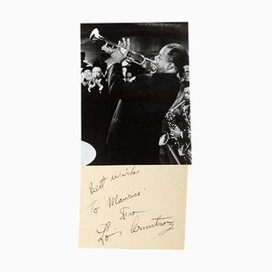 Louis Armstrong, Vintage Photograph with Dedication, 1950s