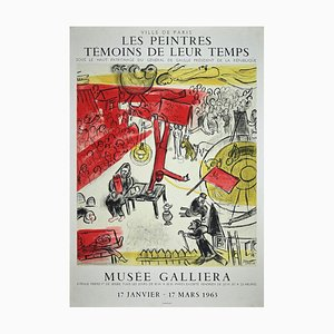 Lithographie Poster After par Les Chains Témoins de Leur Temps par Marc Chagall, 1963