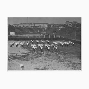 Exercises and Female Games During Fascism in Italy, Vintage Black & White Photograph, 1934