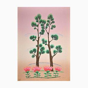 Ivan Rabuzin, Pink Sky, Original Screen Print, 1990s