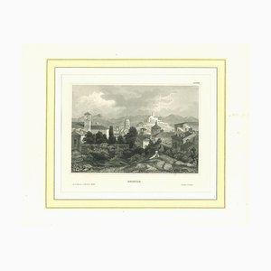 Lithographie Originale de Brescia, 19ème Siècle