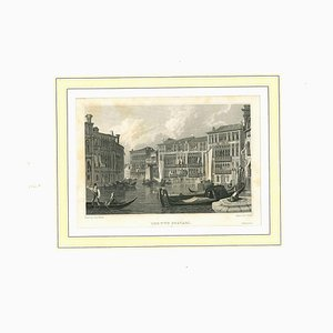Veduta di Due Foscari, Litografia originale su carta, XIX secolo