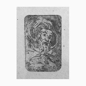 Acquaforte Albert Lepreux, The Portrait, Original Incisione su carta, inizio XX secolo