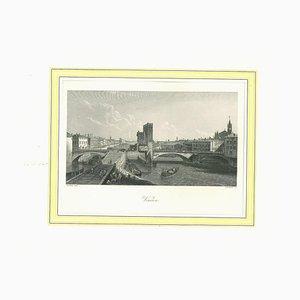 Lithographie Originale de Vérone, 19ème Siècle