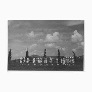 Jeunes Filles Pendant Le Fascisme, Photographie Vintage Noir & Blanc, 1930s