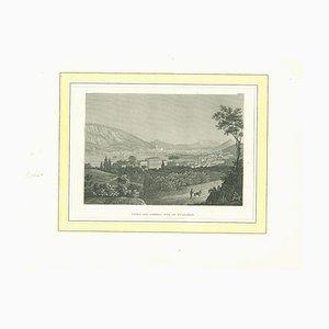 Lithographie Originale de Côme, 19ème Siècle