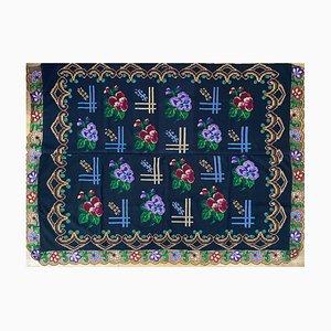 Vintage Handgemachter Floraler Sofa Bezug oder Tagesdecke, Rumänien