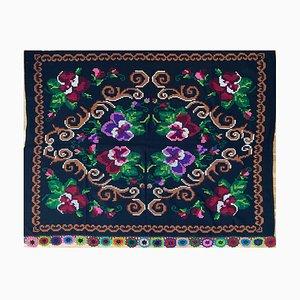 Handgemachtes florales Vintage Sofa oder Bettdecke, Rumänien