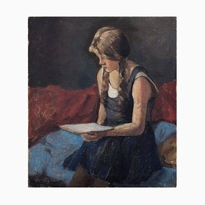 Christian Aigens, Portrait of a Girl Reading