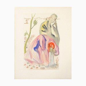 Divine Comedy Purgatory 21 - The Source by Salvador Dali