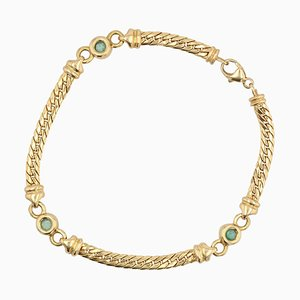Bracelet Émeraude en Or Jaune 18 Carats