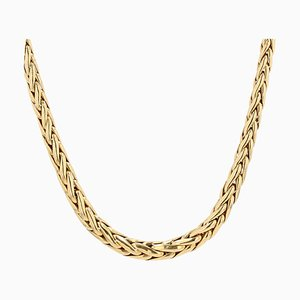 French Palm Tree Chain in 18 Karat Yellow Gold