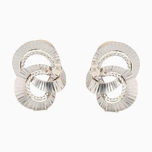 Orecchini a clip in oro bianco, 18 carati, Francia, anni '60, set di 2