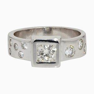 Ring aus 18 Karat Weißgold in Diamanten-Optik