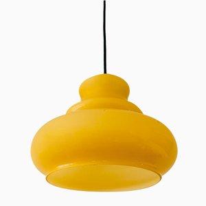 Gelbe Glas Hängelampe in Originalform