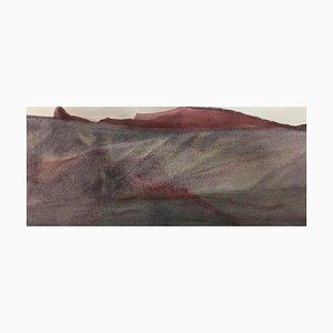The Spread of Red, Aquarell auf Papier, 2021