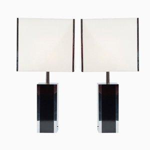 Lampes de Bureau en Formica et en Chrome, France, Set de 2