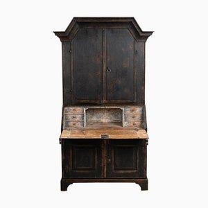 19th Century Swedish Black Bureau Cabinet