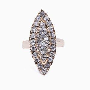 Antique 8k Gold Diamond Ring, 1910s
