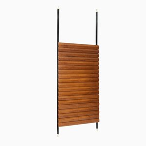 Vintage Italian Teak and Brass Room Divider