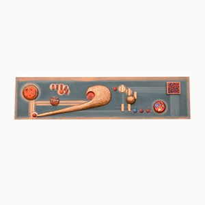 Large Mid-Century Mural in Copper and Enamel