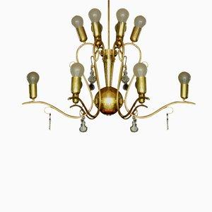 Lámpara de araña austriaca Art Déco grande