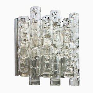 Mid-Century Murano Kristallglas Wandleuchte