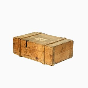 Wooden Chest with Lid from Franck