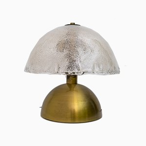 Mid-Century Table Lamp in Murano Glass and Brass by Angelo Brotto for Esperia, Italy, 1970s