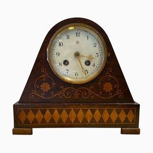 Mid-19th Century Italian Charles X Inlaid Wood Table Clock