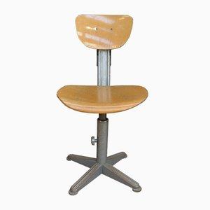 Chaise de Bureau Industrielle à Hauteur Ajustable, 1950s