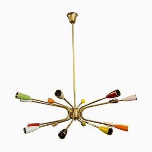 Mid-Century Modern Italian Sputnik Chandelier in the Style of Stilnovo, 1960s