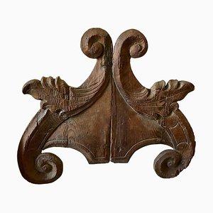 18th Century Sicilian Louis XVI Hand-Carved Pine Frieze