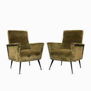 Italienische Mid-Century Sessel, 1960er, 2er Set