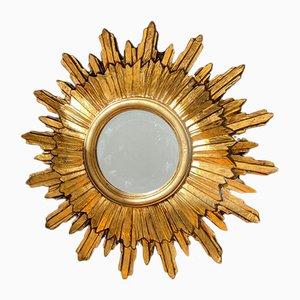 Vintage Golden Sun Mirror, 1960