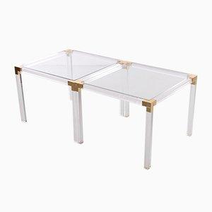 Hollywood Regency Style Plexiglass Coffee Table or Side Table Set