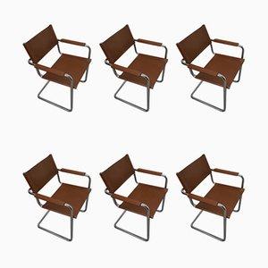 Sedie cantilever MG5 Bauhaus di Matteo Grassi, set di 6