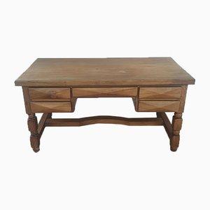 Brutalist Wooden Minister's Desk