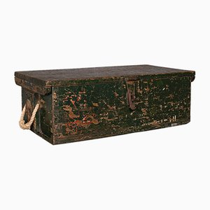 Small Antique English Mariner's Chest in Pine, 1900s