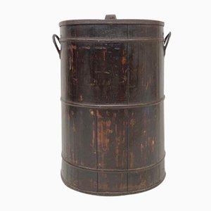 Large Coopered Elm Barrel