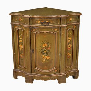 Venetian Style Painted Corner Cupboard, 20th Century