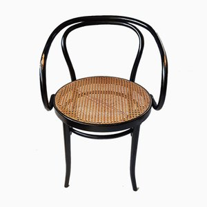 Black Bentwood & Rattan No. 209 Armchair from Ligna, 1970s