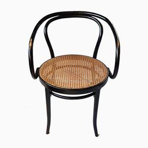 Nr. 209 Sessel aus schwarzem Bugholz & Rattan von Ligna, 1970er