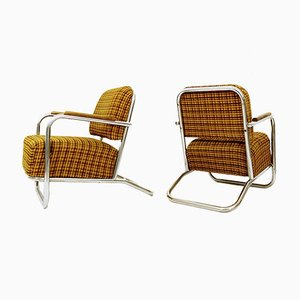Bauhaus Armchairs Attr. to Hynek Gottwald, 1930s, Set of 2