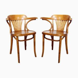Bistro Stühle von Baumann, 1950er, 2er Set