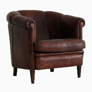 Vintage Sheep Leather Club Chairs